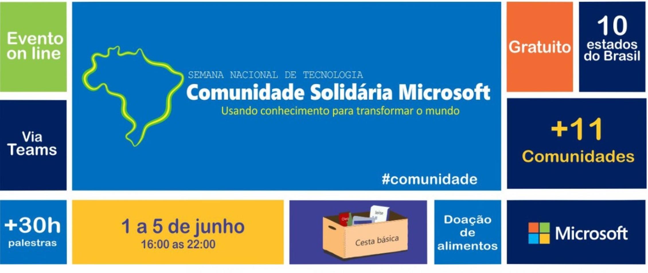 """Participe do """"Comunidade Solidária Microsoft""""!"""